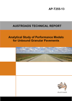 Cover of Analytical Study of Performance Models for Unbound Granular Pavements