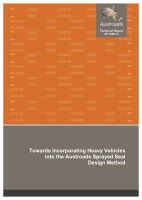 Cover of Towards Incorporating Heavy Vehicles into the Austroads Sprayed Seal Design Method