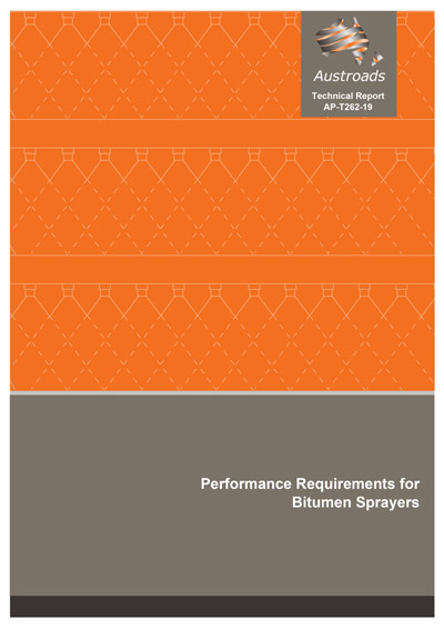 Cover of Performance Requirements for Bitumen Sprayers