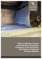 Cover of Effect of Moisture Content and Laboratory Preparation Conditions on the Permanent Deformation of Unbound Granular Materials