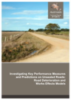 Cover of Investigating Key Performance Measures and Predictions on Unsealed Roads: Road Deterioration and Works Effects Models