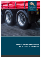 Cover of Analysing Dynamic Wheel Loading and its Effects on the Network