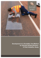Cover of Development of a Durability Test Method for Sprayed Sealing Binders: A Field Validation Study