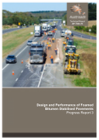 Design and Performance of Foamed Bitumen Stabilised Pavements: Progress Report 3