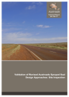 Cover of Validation of Revised Austroads Sprayed Seal Design Approaches: Site Inspection