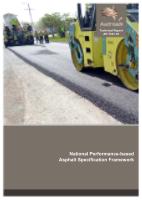 Cover of National Performance-based Asphalt Specification Framework