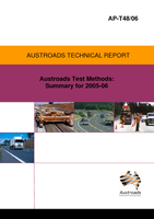 Cover of Austroads Test Method: Summary for 2005/06