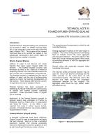 Foamed Bitumen Sprayed Sealing