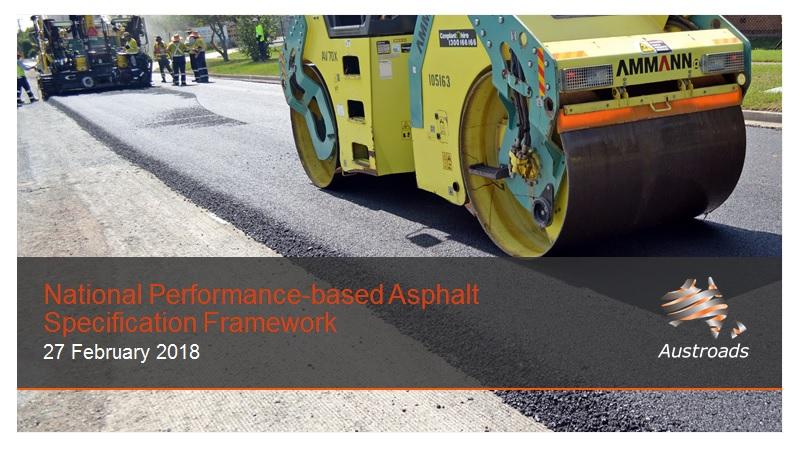 Webinar: National Performance-based Asphalt Specification Framework