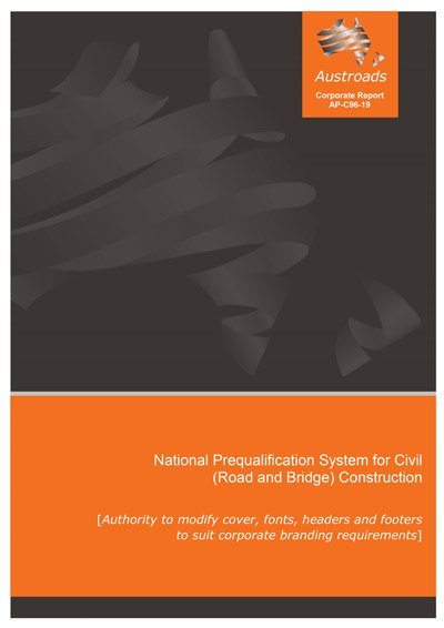 Cover of National Prequalification System for Civil (Road and Bridge) Construction (2019 Edition)