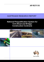 Cover of National Prequalification System for Civil (Road and Bridge) Construction Contracts
