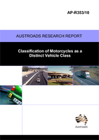 Cover of Classification of Motorcycles as a Distinct Vehicle Class