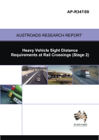 Cover of Heavy Vehicle Sight Distance Requirements at Rail Crossings (Stage 2)