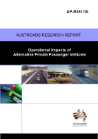 Operational Impacts of Alternative Private Passenger Vehicles