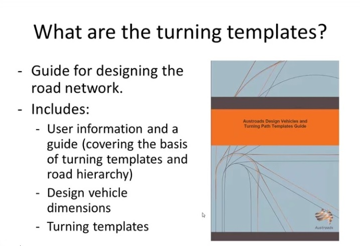 Webinar: An Introduction to the Austroads Design Vehicles and Turning Path Templates