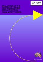 Cover of Evaluation of the Proposed Actions Emanating from Road Safety Audits