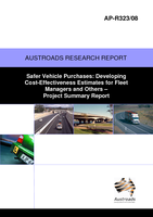 Cover of Safer Vehicle Purchases: Developing Cost-Effectiveness Estimates for Fleet Managers and Others Project Summary Report