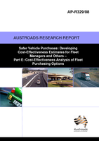 Cover of Safer Vehicle Purchases: Developing Cost-Effectiveness Estimates for Fleet Managers and Others Part E: Cost-Effectiveness Analysis of Fleet Purchasing Options