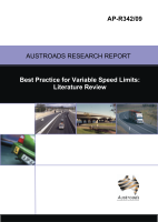 Cover of Best Practice for Variable Speed Limits: Literature Review