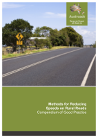 Cover of Methods for Reducing Speeds on Rural Roads: Compendium of Good Practice
