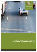 Public Demand for Safer Speeds: Identification of Interventions for Trial