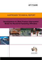 Cover of Development of a Best Practice Intervention Model for Recidivist Speeding Offenders