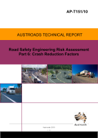 Cover of Road Safety Engineering Risk Assessment Part 6: Crash Reduction Rates