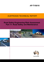 Cover of Road Safety Engineering Risk Assessment Part 11: Road Safety and Maintenance