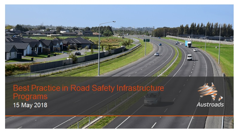 Cover of Webinar: Best Practice in Road Safety Infrastructure Programs