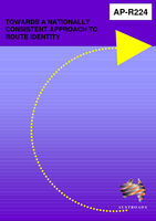 Cover of Towards a Nationally Consistent Approach to Route Identity