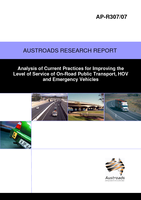 Analysis of Current Practices for Improving the Level of Service of On-Road Public Transport, HOV and Emergency Vehicles