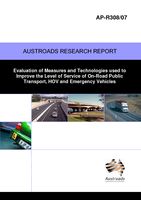 Evaluation of Measures and Technologies used to Improve the Level of Service of On-Road Public Transport, HOV and Emergency Vehicles