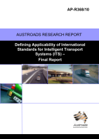 Cover of Defining Applicability of International Standards for Intelligent transport systems (ITS): Final Report.
