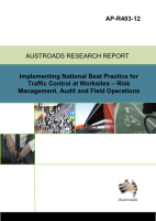 Cover of Implementing National Best Practice for Traffic Control at Worksites - Risk Management, Auditing and Field Operations