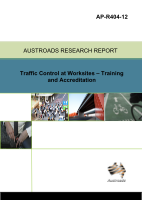 Cover of Traffic Control at Worksites - Training and Accreditation