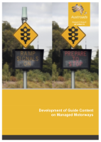 Development of Guide Content on Managed Motorways