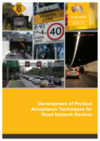 Cover of Development of Product Acceptance Techniques for Road Network Devices