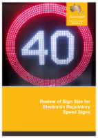 Cover of Review of Sign Size for Electronic Regulatory Speed Signs