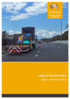 Cover of Safety at Road Worksites: Stage 1 Working Papers