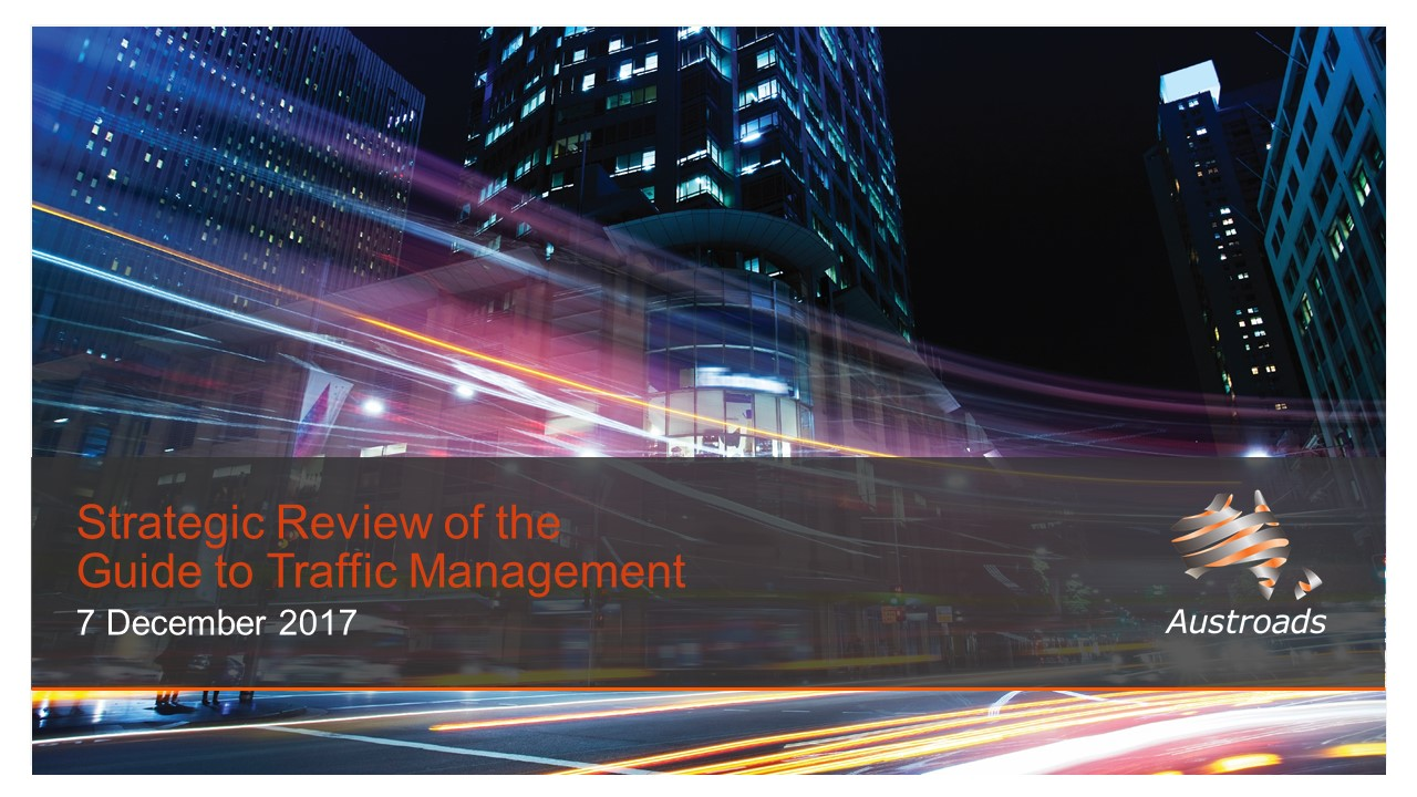 Webinar: Strategic Review of the Guide to Traffic Management