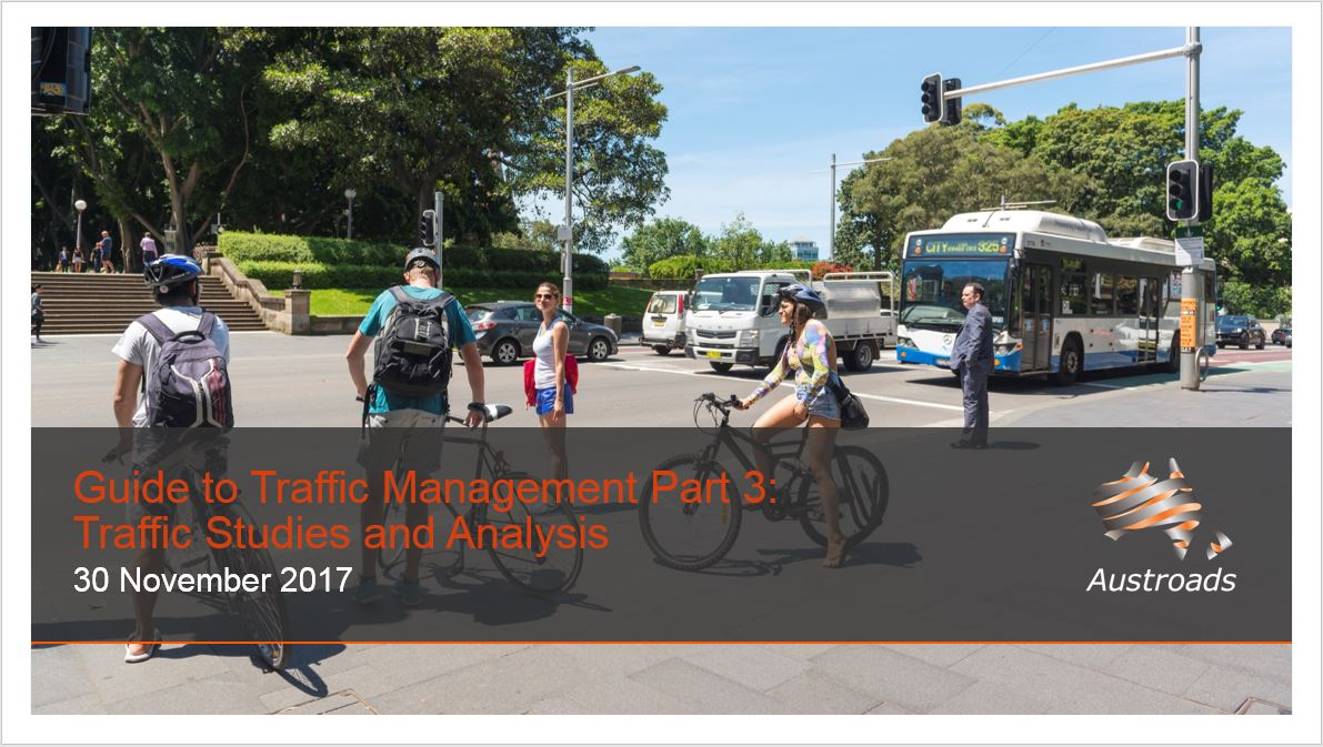 Cover of Webinar: Guide to Traffic Management Part 3: Traffic Studies and Analysis (2017 Edition)