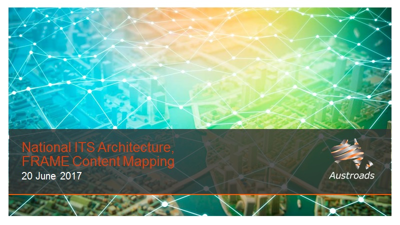 Cover of Webinar: National ITS Architecture, FRAME Content Mapping
