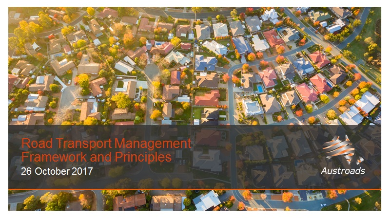 Webinar: Road Transport Management Framework and Principles