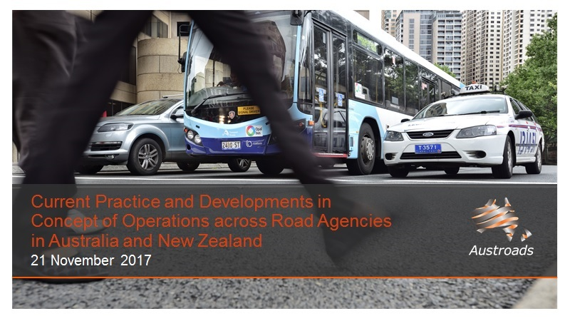 Webinar: Current Practice and Developments in Concepts of Operations across Road Agencies in Australia and New Zealand